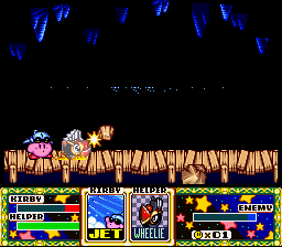 Kirby Super Star - jet and wheel - User Screenshot